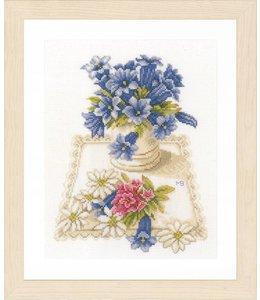 Lanarte Borduurpakket Marjolein Bastin  blauwe klokjes