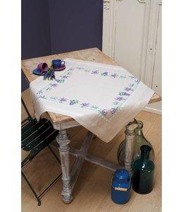 Vervaco Borduurpakket Tafelkleed lavendel