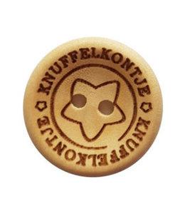CuteDutch Houten knoop - Knuffelkontje 20 mm