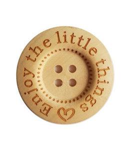 CuteDutch Houten knoop -Enjoy the little things 40 mm