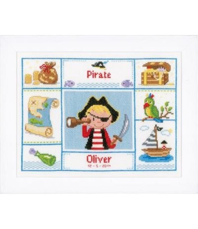 Vervaco Borduurpakket piraat met ooglapje