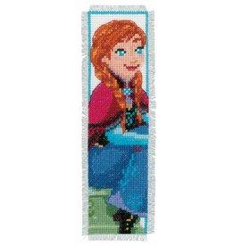 Vervaco Borduurpakket bladwijzer set Frozen Anna en Elsa