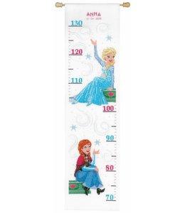 Vervaco Borduurpakket Frozen Sisters Forever - groeimeter