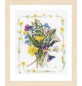 Vervaco Borduurpakket veldboeket met bloemenrand