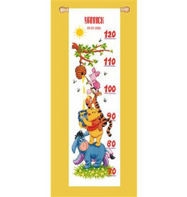 Vervaco Borduurpakket Winnie the Pooh en vrienden - groeimeter