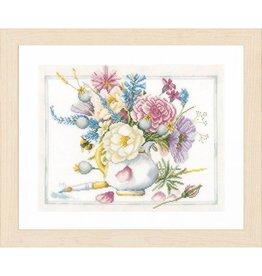 Lanarte Witte pot met bloemen - Marjolein Bastin