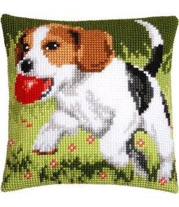 Vervaco Kussen spelende hond