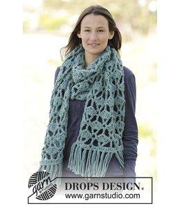 Drops Sjaal gehaakt van Drops Andes 0-1167