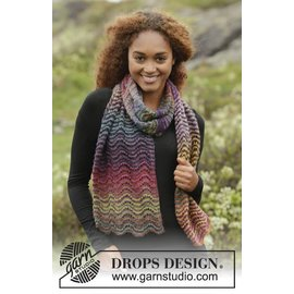 Drops Breipakket: Sjaal Rainbow Ripples (171-17)