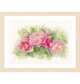 Lanarte Borduurpakket Pioenrozen roze
