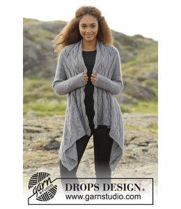 Drops Gebreid vest in Drops BabyAlpaca Silk en Kid-Silk (173-6)