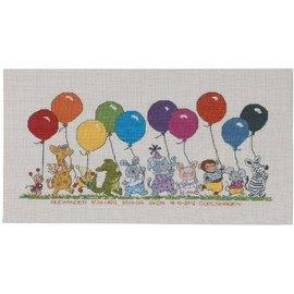 Permin Borduurpakket Happy Friends Balloons