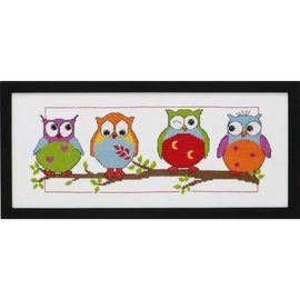 Permin Borduurpakket Owls