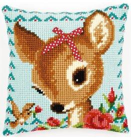 Vervaco Kussen Bambi met strikje