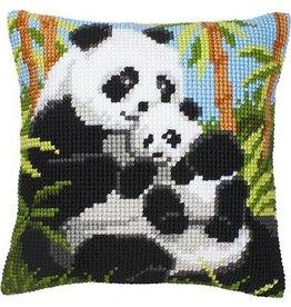 Vervaco Kussen Pandafamilie