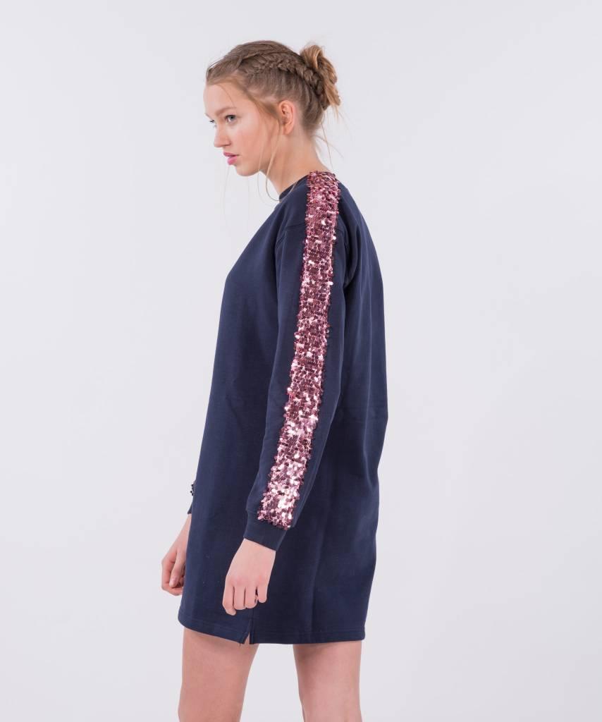 1d07bfda9bd Sweater Dress Dark Blue Big Pink