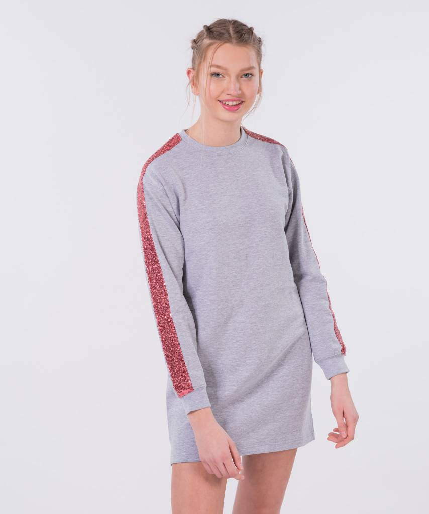 310fa282920 Sweater Dress Light Grey Old Pink