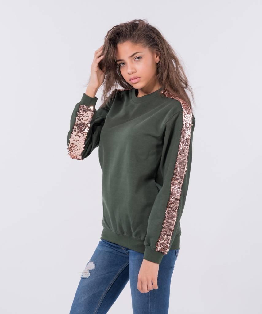 Basic L M Sweater Dark Green Big Champagne 4cc6a795d