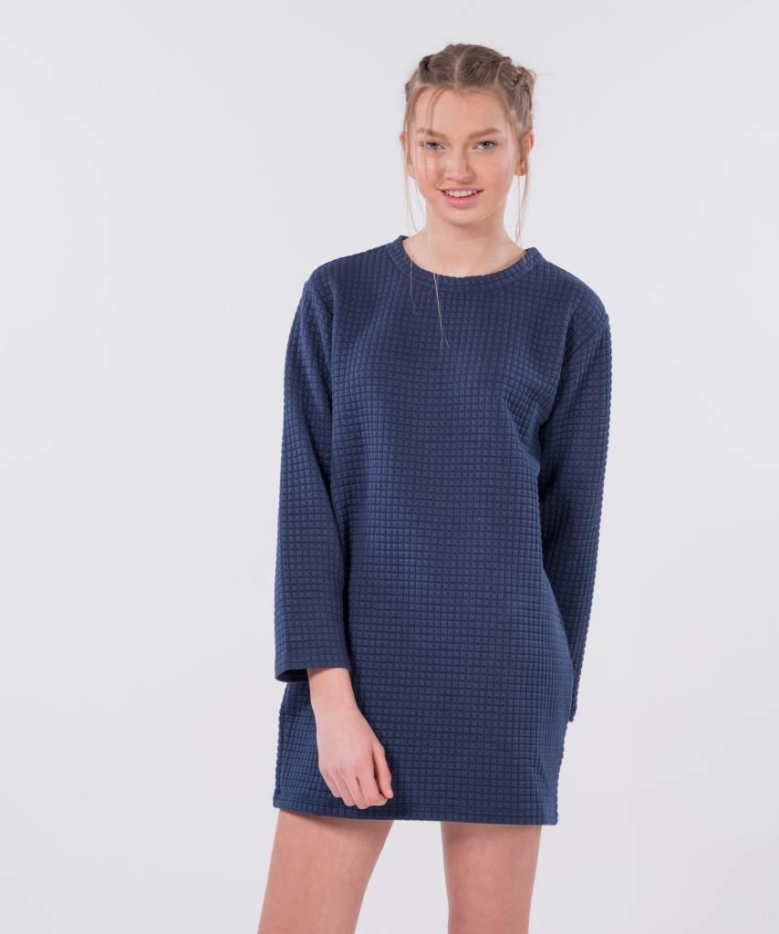 d30e20c2fa Waffle Sweater Dress Dark Blue - Lewis   Melly