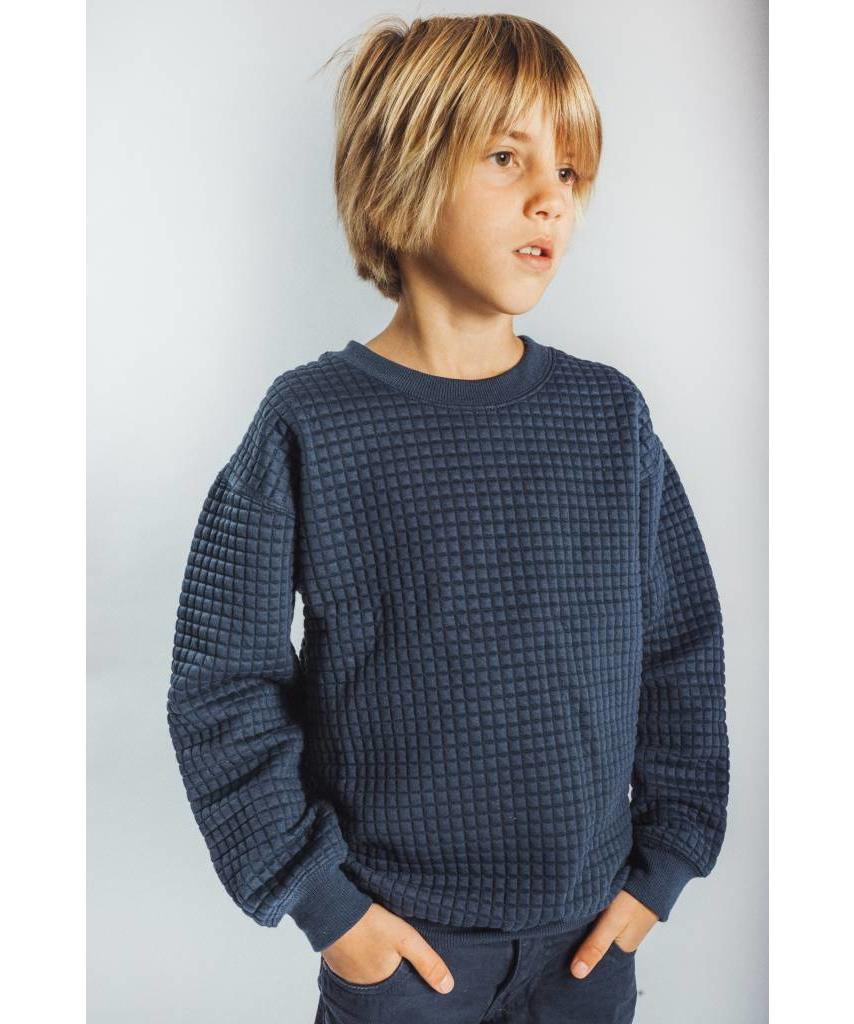 a60646d7ad KIDS Waffle Sweater Dark Blue - Lewis   Melly