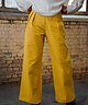 Wide Leg Trousers Yellow