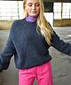 Teddi Knit Pullover Navy Blue