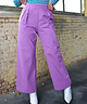 Wide Leg Tailored Trousers Lilac