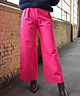 Wide Leg Tailored Trousers Fuchsia