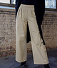 Wide Leg Trousers Beige