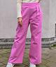Wide Leg Trousers  High Waist Pink