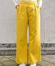 Wide Leg Trousers High Waist Ocher