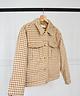 Beige Checkered Jacket