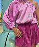 One-Shoulder Rosa Blouse Pink