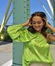 One-Shoulder Rosa Blouse Green