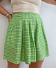 Green Checkered High Waist Shorts