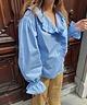Ruffle Maiden Shirt Blue