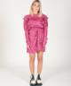 Zebra Dress Pink/Burgundy