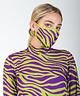 Face Mask Green/Purple Zebra