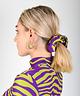 Scrunchie Green/Purple Zebra