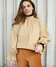 High Collar Melly Blouse Camel