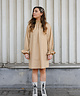 High Collar Melly Dress Camel