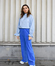 Cosy Ribbed Trousers Bright Blue