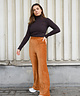Cosy Ribbed Trousers Camel