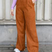 Corduroy Trousers Camel