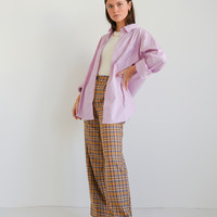 Lily Checkered Trousers Sand/Pink