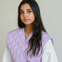 Rosie Quilted Vest Lilac