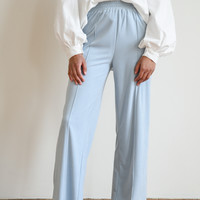 Cosy Ribbed Trousers Light Blue