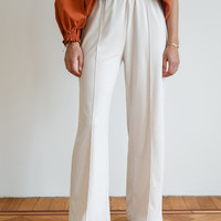 Cosy Ribbed Trousers Cream