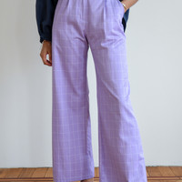 Mila Checkered Trousers Lilac