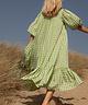 Checkered Lewis Dress Green